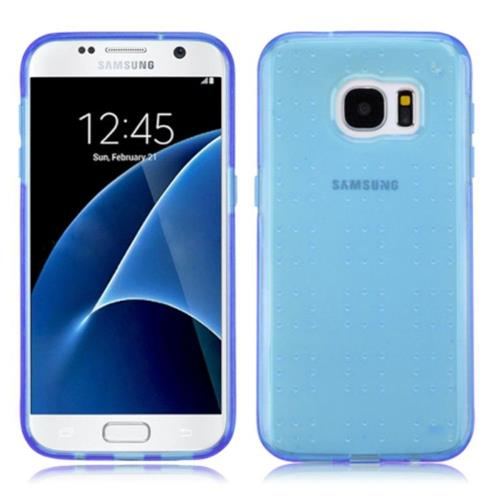 Insten Fitted Soft Shell Case for Samsung Galaxy S7 - Blue