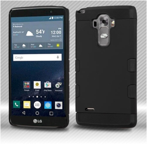 Insten Hard Dual Layer Silicone Case For LG G Stylo LS770/G Vista 2 - Black