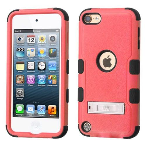 Insten Hard Hybrid Silicone Case w/stand For Apple iPod Touch 5th Gen/6th Gen - Pink/Black