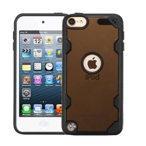 Insten Hard Clear Crystal TPU Cover Case For Apple iPod Touch 5th Gen/6th Gen - Smoke/Black