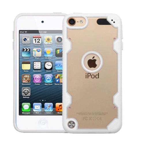Insten Hard Crystal TPU Cover Case For Apple iPod Touch 5th Gen/6th Gen - Clear/White