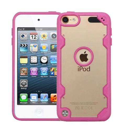 Insten Hard Crystal TPU Cover Case For Apple iPod Touch 5th Gen/6th Gen - Clear/Hot Pink