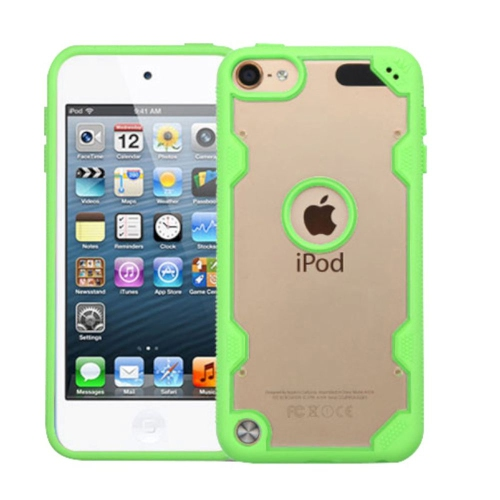 Insten Hard Crystal TPU Case For Apple iPod Touch 5th Gen/6th Gen - Clear/Green