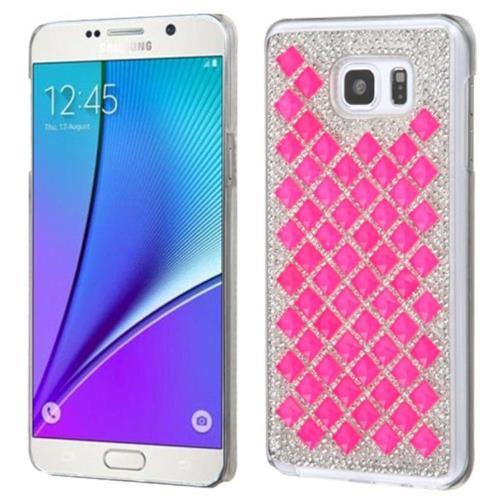 Insten Hard Rhinestone Case For Samsung Galaxy Note 5 - Hot Pink