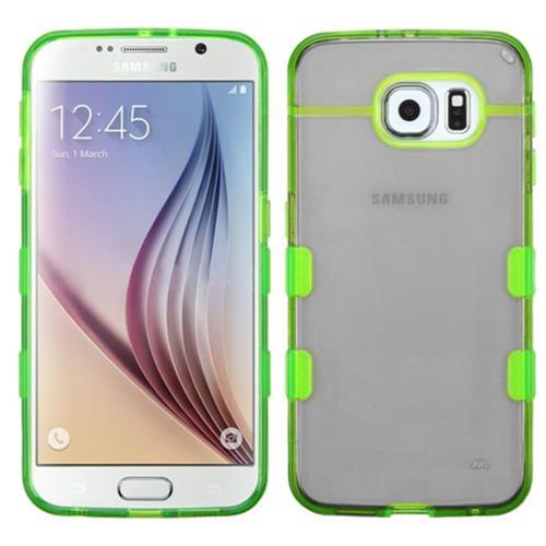 Insten Rubber Case For Samsung Galaxy S6 - Black/Green