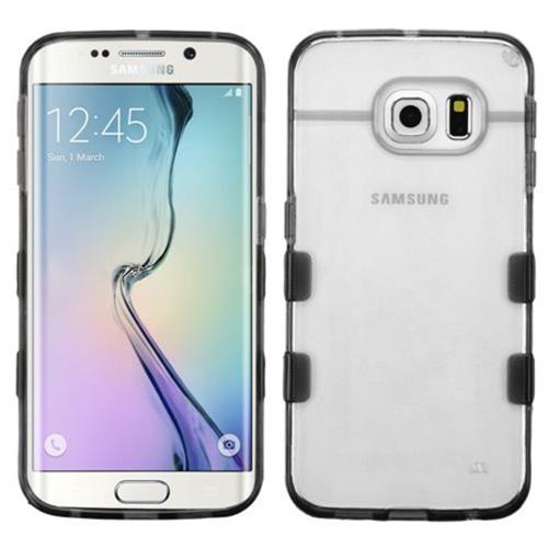 Insten Rubber Case For Samsung Galaxy S6 Edge - Clear/Gray