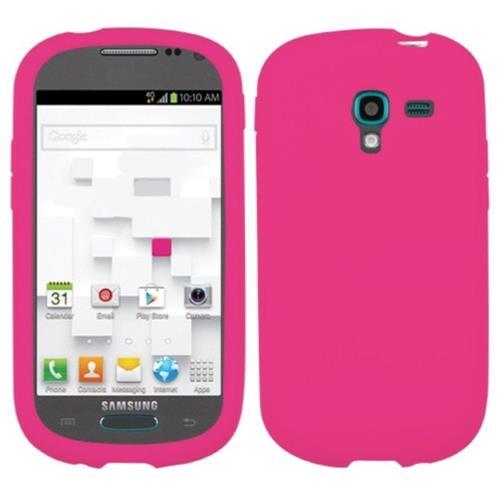 Insten Skin Rubber Case For Samsung Galaxy Exhibit T599 - Pink