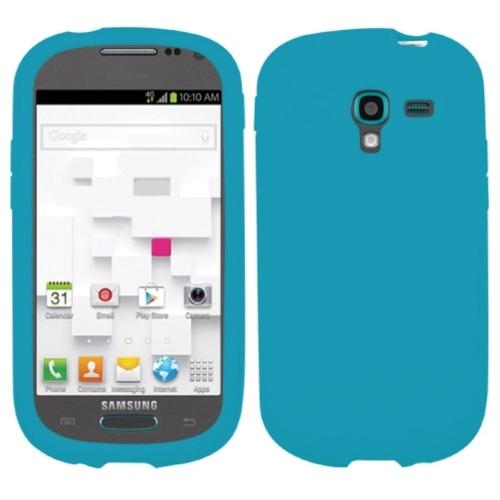 Insten Gel Rubber Case For Samsung Galaxy Exhibit T599 - Blue