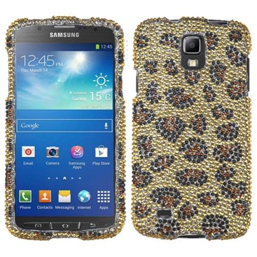 Insten Leopard Hard Rhinestone Cover Case For Samsung Galaxy S4 Active - Brown