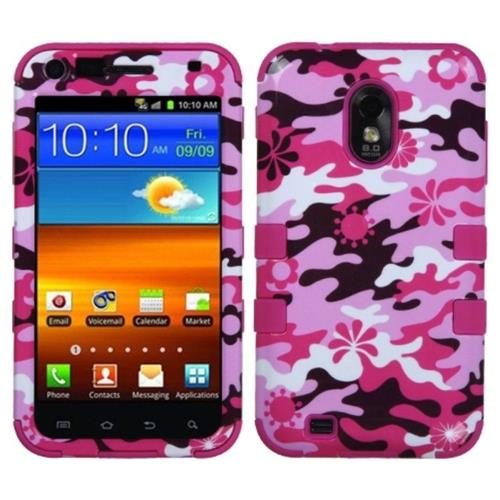Insten Camouflage Hard Silicone Cover Case For Samsung Galaxy S2 Epic 4G Touch D710, Pink/White