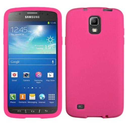 Insten Gel Rubber Case For Samsung Galaxy S4 Active - Pink