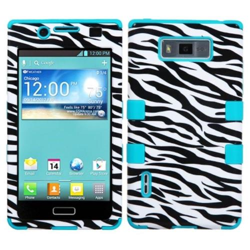Insten Zebra Hard Silicone Case For LG OPTIMUS SHOWTIME/Splendor US730 / Venice LG730, Black/White