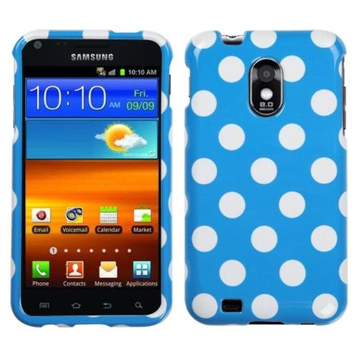 Insten Polka Dots Hard Case For Samsung Galaxy S2 Epic 4G Touch D710 - Hot Pink/White