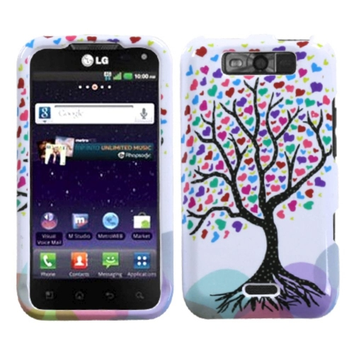 Insten Love Tree Hard Case For LG Connect 4G/Viper - Colorful/White