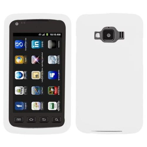 Insten Skin Rubber Cover Case For Samsung Rugby Smart - White