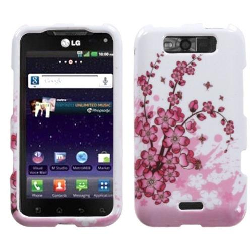 Insten Spring Flowers Hard Case For LG Connect 4G/Viper - White/Pink