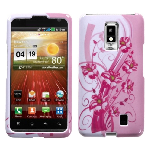 Insten Blooming Lily Hard Cover Case For LG Spectrum / Revolution 2 - Pink