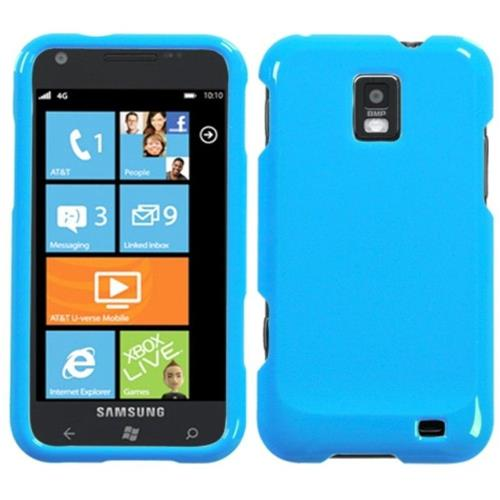 Insten Hard Clear Crystal Cover Case For Samsung Focus S - Turquoise