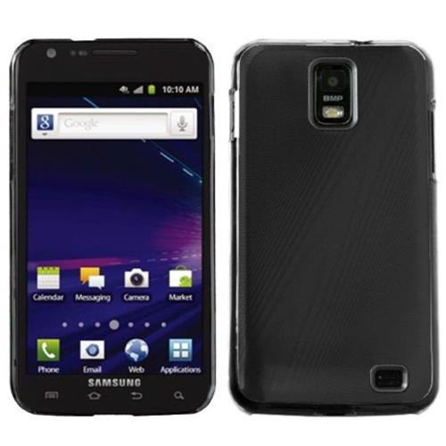 Insten Cosmo Aluminum Metallic Hard Cover Case For Samsung Galaxy S2 Skyrocket I727 - Black/Clear