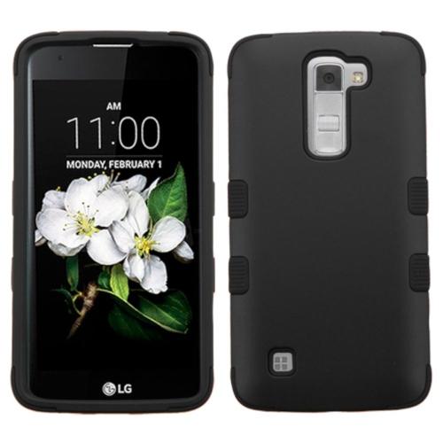 Insten Tuff Hard Hybrid Silicone Case For LG K7 Tribute 5 - Black