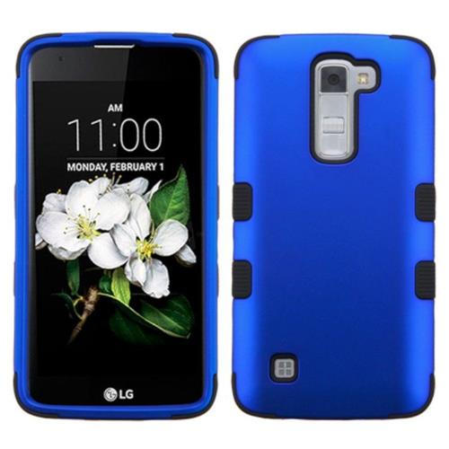 Insten Tuff Hard Hybrid Rubber Silicone Cover Case For LG K7 Tribute 5 - Blue/Black