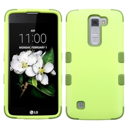 Insten Tuff Hard Dual Layer Silicone Cover Case For LG K7 Tribute 5 - Green