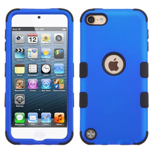 Insten Hard Dual Layer Rubber Coated Silicone Case For Apple iPod Touch 5th Gen/6th Gen, Blue/Black