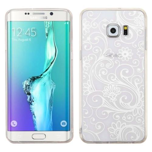 Insten Four-leaf Clover Gel Case For Samsung Galaxy S6 Edge Plus - White