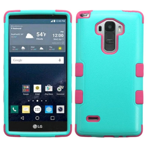 Insten Tuff Hard Hybrid Silicone Case For LG G Stylo LS770 - Teal/Pink