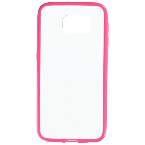 Insten TPU Case For Samsung Galaxy S6 - Clear/Hot Pink