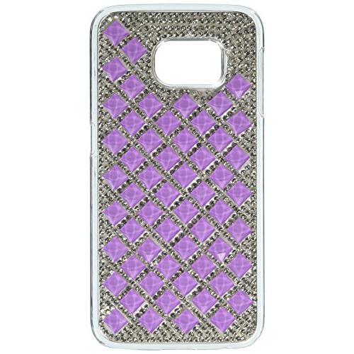 Insten Hard Diamante Case For Samsung Galaxy S6 Edge - Silver/Purple