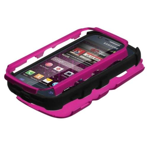 Insten Tuff Hard Hybrid Silicone Case For Samsung Galaxy Prevail 2/Ring - Hot Pink/Black
