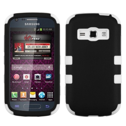 Insten Tuff Hard Dual Layer Silicone Cover Case For Samsung Galaxy Prevail 2/Ring - Black/White