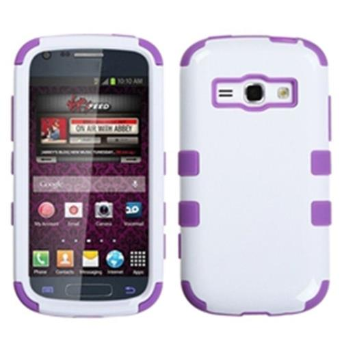 Insten Tuff Hard Hybrid Silicone Cover Case For Samsung Galaxy Prevail 2/Ring - White/Purple