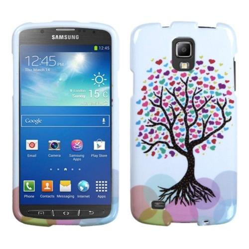Insten Love Tree Rubber Cover Case For Samsung Galaxy S4 Active - Pink/White