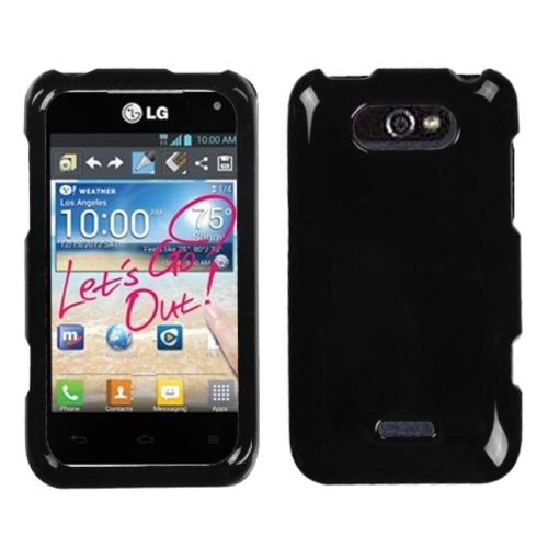 Insten Hard Cover Case For LG Motion MS770/Optimus Regard - Black