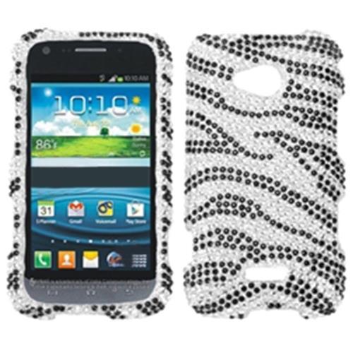 Insten Zebra Hard Diamond Case For Samsung Galaxy Victory 4G LTE - Black/Silver