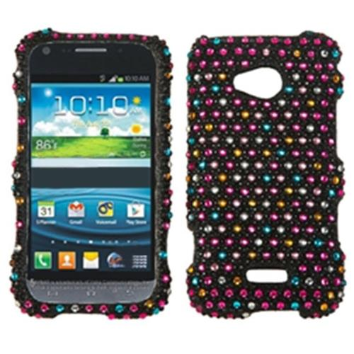 Insten Sprinkle Dots Hard Bling Cover Case For Samsung Galaxy Victory 4G LTE - Black