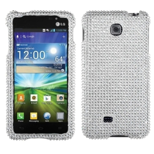 Insten Hard Diamante Case For LG Escape - Silver