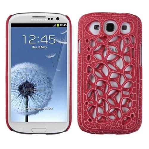 Insten Synapse Hard Plastic Case For Samsung Galaxy S3 - Red