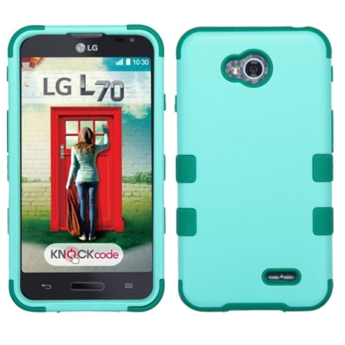 Insten Hybrid Rubber Silicone Case For LG Optimus Exceed 2 VS450PP Verizon/Optimus L70/Realm, Teal