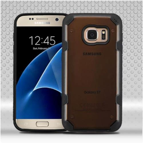 Insten Hard TPU Cover Case For Samsung Galaxy S7 - Smoke/Black