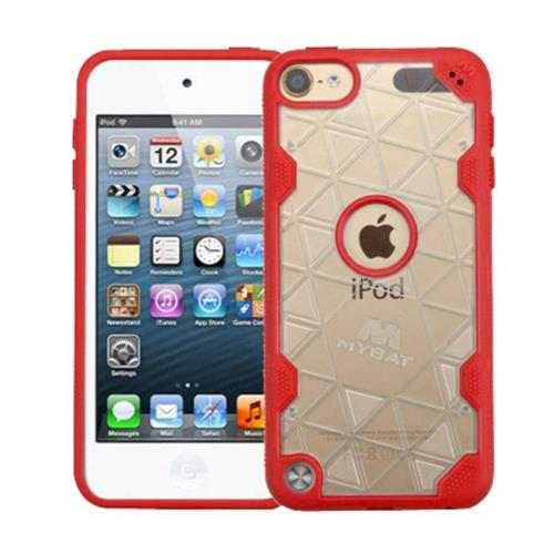 Insten Hard Crystal TPU Cover Case For Apple iPod Touch 5th Gen/6th Gen - Clear/Red