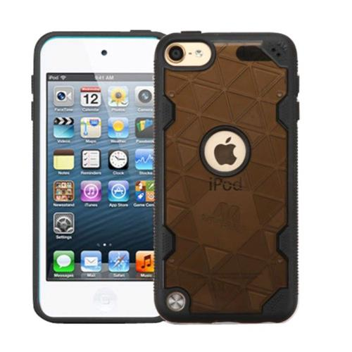 Insten Hard Transparent Crystal TPU Cover Case For Apple iPod Touch 5th Gen/6th Gen - Smoke/Black
