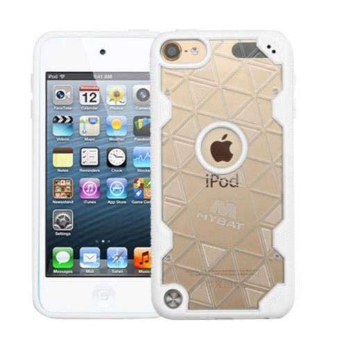 Insten Hard Crystal TPU Case For Apple iPod Touch 5th Gen/6th Gen - Clear/White