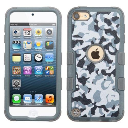 Insten Camouflage Hard Hybrid Silicone Cover Case For Apple iPod Touch 5th Gen/6th Gen, Gray/White