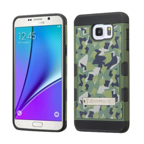 Insten Camouflage Hard TPU Case w/stand For Samsung Galaxy Note 5 - Green/Black
