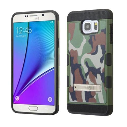 Insten Camouflage Hard TPU Cover Case w/stand For Samsung Galaxy Note 5 - Green/Black