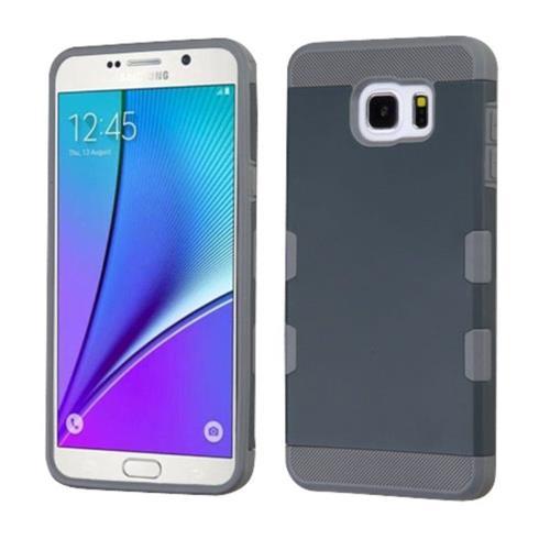 Insten Hard TPU Case For Samsung Galaxy Note 5 - Blue/Gray