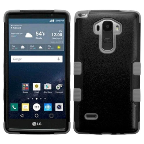 Insten Tuff Hard Hybrid Rubber Coated Silicone Case For LG G Stylo LS770 - Black/Gray